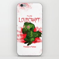 lovecraft iPhone & iPod Skins featuring My Little Lovecraft by Kaz Whittle
