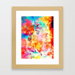 Colorful Abstract Nebula Framed Art Print