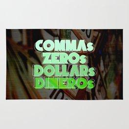 Comma, Zero, Dollar and Dinero Rug