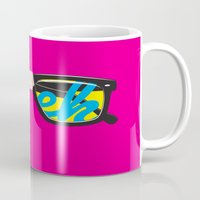 geek Mugs featuring Geek by Aaron Synaptyx Fimister