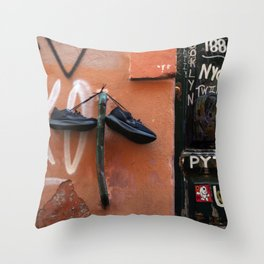 Shoe Parking Throw Pillow