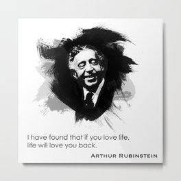 Arthur Rubinstein - Love Life Metal Print