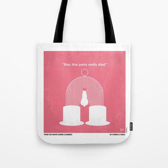 No241 My Dumb & Dumber minimal movie poster Tote Bag