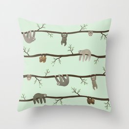 sloths Throw Pillow
