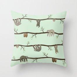 sloths Throw Pillow