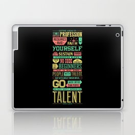 Lab No. 4 Getting Ahead Sophia Loren Motivational Quotes Laptop & iPad Skin