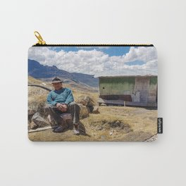 85 years old, poor, Peruvian male. Carry-All Pouch
