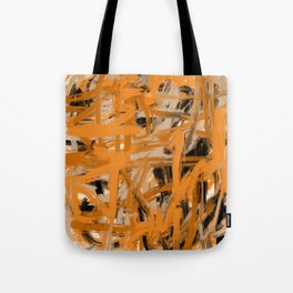 Orange & Taupe Abstract Tote Bag