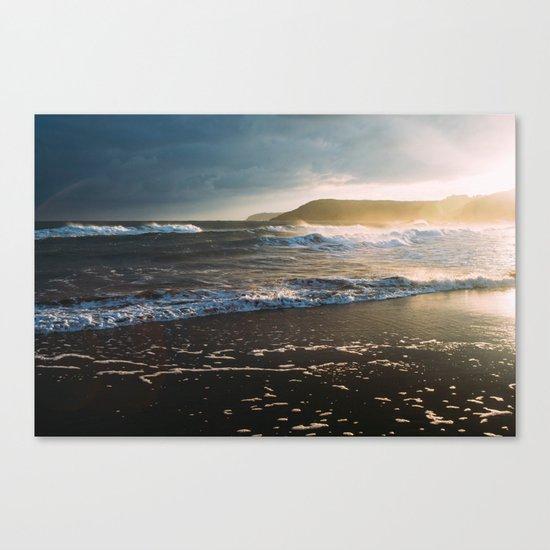 Misty Ocean #sunset Canvas Print