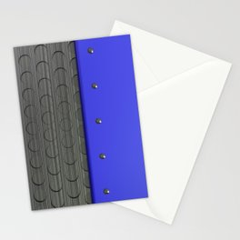Colored plate with rivets and circular metal grille Stationery Cards