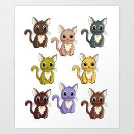 Who said meow? Art Print