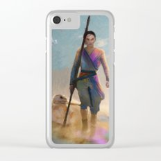 Rey and BB8 Clear iPhone Case