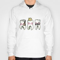 tooth Hoodies featuring Rotten Tooth, Crowned Tooth and Wisdom Tooth by Hungry Designs