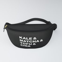 kale matcha tofu vegan healthy food typography gift Fanny Pack