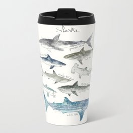 Sharks Metal Travel Mug