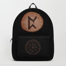 Perthro Elder Futhark Rune of fate and the unmanifest, probability, luck, nothingness, the unborn Backpack