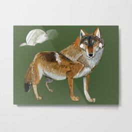 Totem Carpathian wolf Metal Print