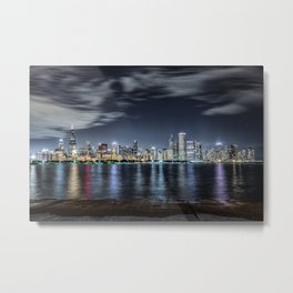 Chicago Skyline From the Adler Planetarium Part 2 Metal Print
