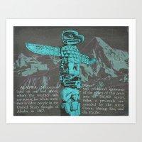 alaska Art Prints featuring Alaska by Last Call