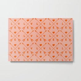 Abstraction_LOVE_HEART_VALENTINE_Minimalism_001 Metal Print