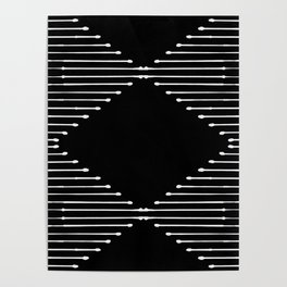 Geo / Black Poster