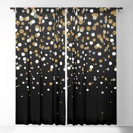 Pretty modern girly faux gold glitter confetti ombre illustration Blackout Curtain