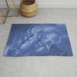 Flowing Purple Haze, Pearlescent Fluid Art Illustration Rug