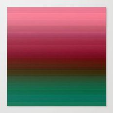 The red-and-green striped Ombre Canvas Print