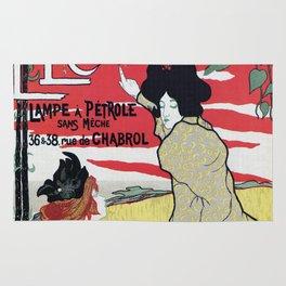 The Brilliant 1895 French Art Nouveau ad Rug