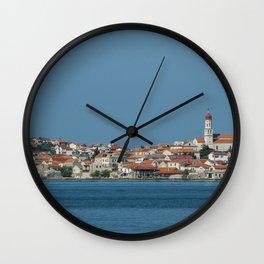 Cutting the blue Wall Clock
