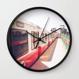 Boston Red Line MGH Train  Wall Clock