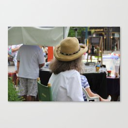 Farmers Market Lady Canvas Print