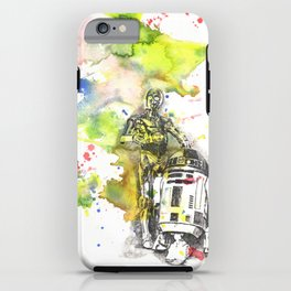 C3PO and R2D2 from Star Wars iPhone Case