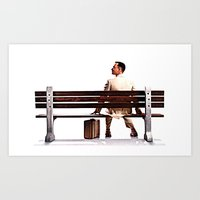 forrest gump Art Prints featuring Forrest Gump by e_Walnutstreet