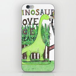 Dinosaurs Love Ice Cream iPhone Skin