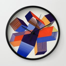 Geometric Painting by A. Mack Wall Clock