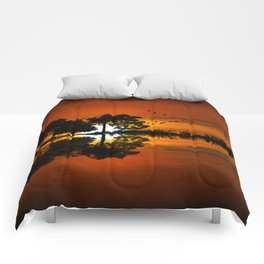 Guitarscape Sunset Comforters
