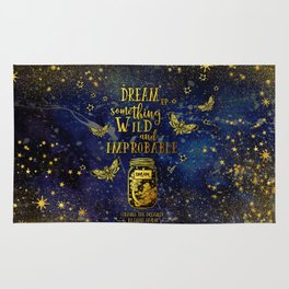 Dream Up Something Wild and Improbable (Strange The Dreamer) Rug
