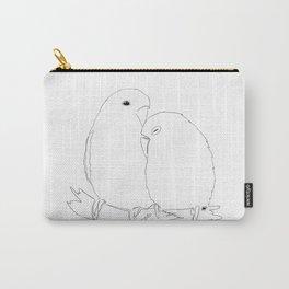 Love Birds line art Carry-All Pouch