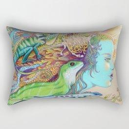 A Tangle Of Lizards, Lizard Art Rectangular Pillow
