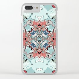 Abstract Pastel Mandala Clear iPhone Case
