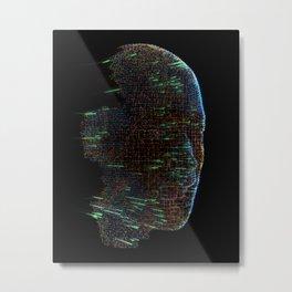 Dataface Six Metal Print