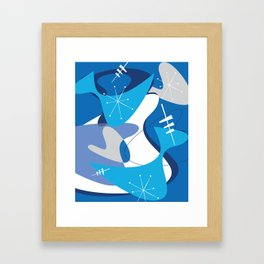 Blue Bam Boom Framed Art Print