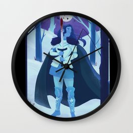 The Raven Knight Wall Clock