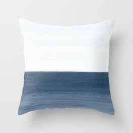 Ocean Watercolor Painting No.1 Throw Pillow