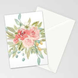 Loose Boho Watercolor Florals Stationery Cards