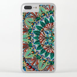 Peacock Clear iPhone Case