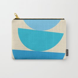 Mid-Century Modern Half Circles - Blue Carry-All Pouch