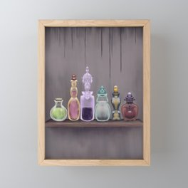 Potion Master - Magic Potions on a Shelf Framed Mini Art Print