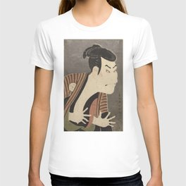 Famous Japanes Art: Tōshūsai Sharaku - Print of Ōtani Oniji III in the Role of the Servant Edobei T-shirt